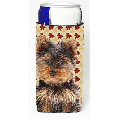 Fall Leaves Yorkie Puppy & Yorkshire Terrier Michelob Ultra bottle sleeves fo...