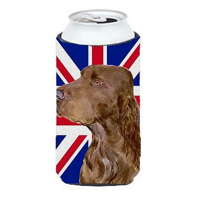 Field Spaniel With English Union Jack British Flag Tall Boy bottle sleeve Hug...