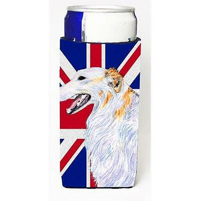 Borzoi With English Union Jack British Flag Michelob Ultra bottle sleeves For...