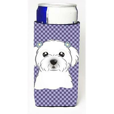 Purple Checkered Maltese Michelob Ultra bottle sleeves for slim cans