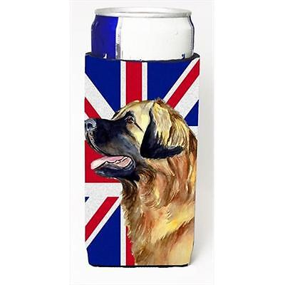 Leonberger With English Union Jack British Flag Michelob Ultra bottle sleeves...