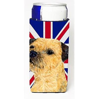 Border Terrier With English Union Jack British Flag Michelob Ultra bottle sle...