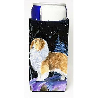 Starry Night Sheltie Michelob Ultra bottle sleeves For Slim Cans 12 oz.