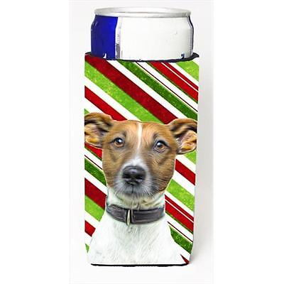 Candy Cane Holiday Christmas Jack Russell Terrier Michelob Ultra bottle sleev...