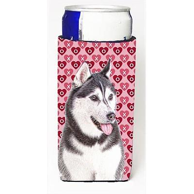 Hearts Love and Valentines Day Alaskan Malamute Michelob Ultra bottle sleeves...