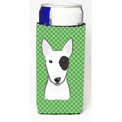 Green Checkered Bull Terrier Michelob Ultra bottle sleeves for slim cans