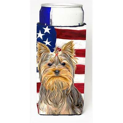 USA American Flag with Yorkie & Yorkshire Terrier Michelob Ultra bottle sleev...