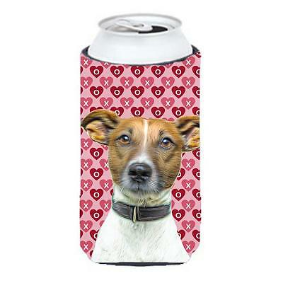 Hearts Love and Valentines Day Jack Russell Terrier Tall Boy bottle sleeve Hu...