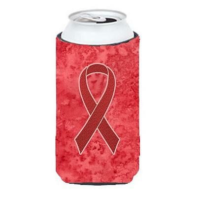 Red Ribbon for Aids Awareness Tall Boy bottle sleeve Hugger 22 To 24 Oz. • AUD 47.47