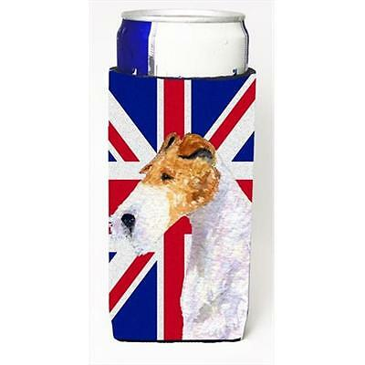 Fox Terrier With English Union Jack British Flag Michelob Ultra bottle sleeve...