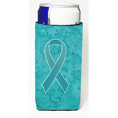 Teal Ribbon for Ovarian Cancer Awareness Michelob Ultra bottle sleeves for sl...