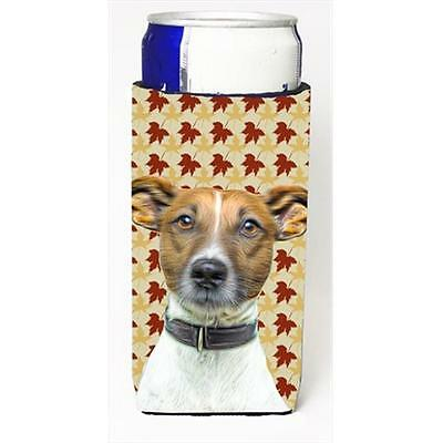 Fall Leaves Jack Russell Terrier Michelob Ultra bottle sleeves for slim cans