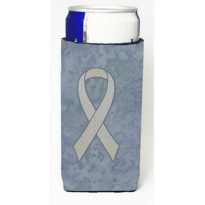 Clear Ribbon for Lung Cancer Awareness Michelob Ultra bottle sleeves for slim...