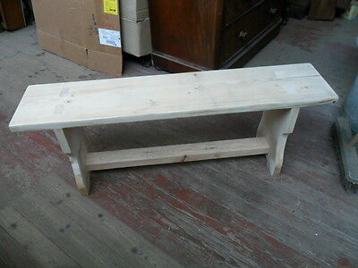 antique style farm mill bench rustic hand made country bench form seat table b4