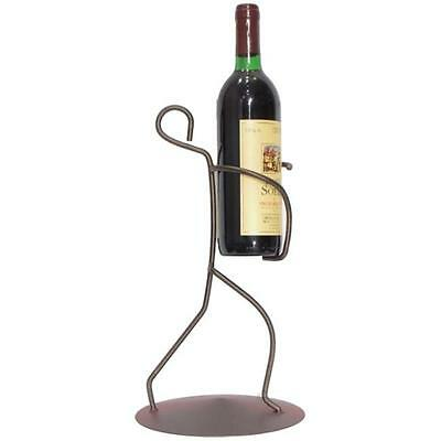 Metrotex Designs 21064 Iron Borracho Wine Bottle Holder, Meteor Finish