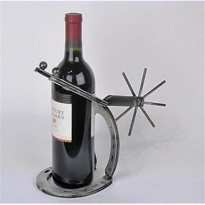 Metrotex Designs 26014 Horseshoe & Spur Wine Bottle Display