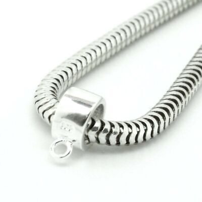 CHARM CARRIER dangle/hanger/holder/bail- Solid 925 sterling silver European bead