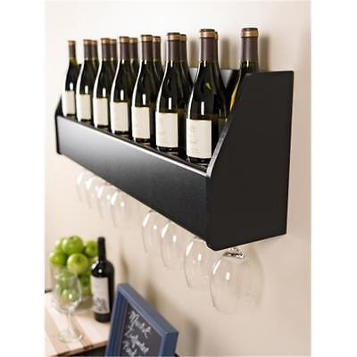 Prepac BSOW-0200-1 Floating Wine Rack in Black