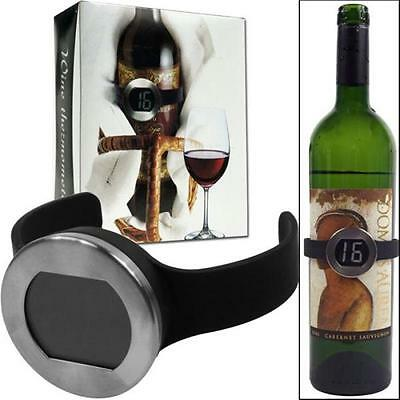 Wine Bottle Thermometer with Digital Display Trademark Home
