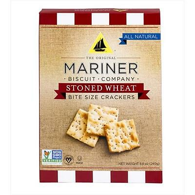 Mariner 12409 Stoned Wheat Bite Size Crackers Case of 12
