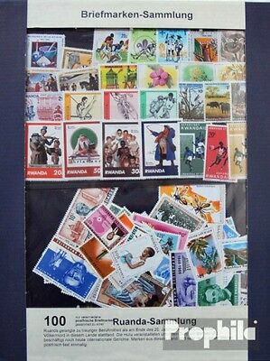 Rwanda 100 different stamps unmounted mint / never hinged