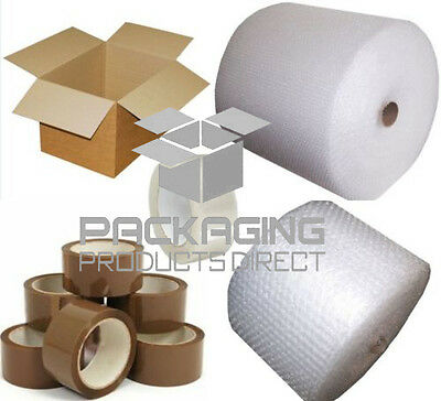 Cardboard Boxes Small & Large Bubble Wrap Packaging Tapes ALL IN 1 LISTING