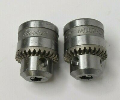 "Jacobs Multi-Craft 1/4"" 6.5mm Drill Chuck 3/8-24 Threads SM1G61 - KEY IS MISSING"