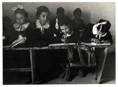 Patellani The rural education in Italy in the Fifties Original photo 1950's L351