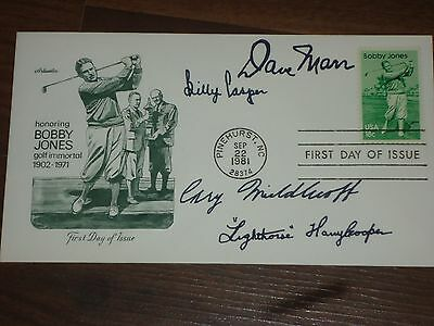 Golf Legends  Signed Bobby Jones First Day Cover w/COA