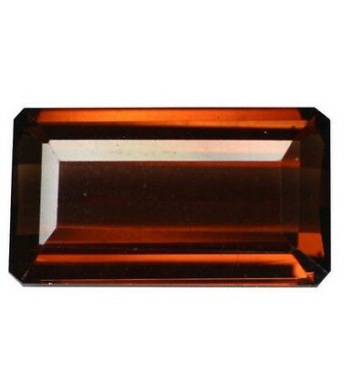7.40 cts Natural Octagon-cut Smoky Orange-Brown VVS-IF Tourmaline (Mozambique)