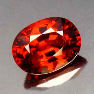 2.04 cts Natural Oval-cut Mandarin-Orange Spessartite VS Garnet (Nigeria)