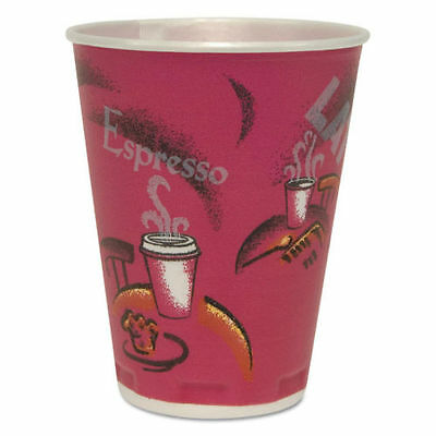 Solo Trophy Plus Insulated Thin-Wall Foam Cups, 12 oz., Hot/Cold, Bistro, 1000ct