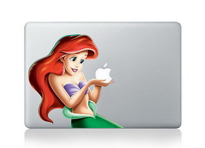 "Ariel holds apple Macbook Air/Pro 13"" Removable Vinyl Sticker"