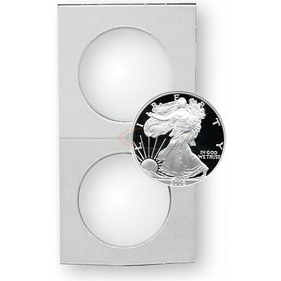 1200 2.5 X 2.5 Cardboard coin Holders for eagle 43mm