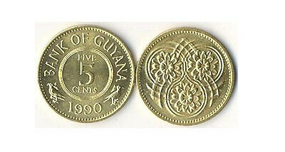 Guyana: 3 Piece Vintage Uncirc Coin Set; 1, 5 And 10 Cents