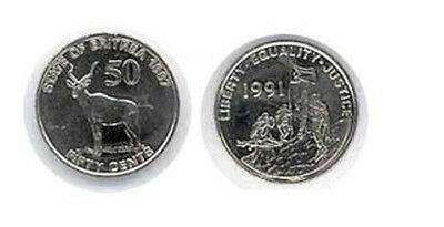 Eritrea: 6 Piece Complete Uncirculated Coin Set, 1 To 100 Cents