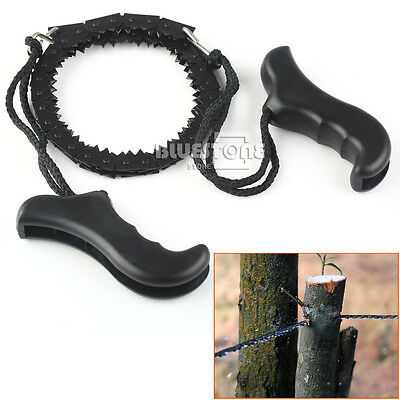 Fast Outdoor Steel Wire Saw Camping Survival Hunting Manual Pocket Chain Saw