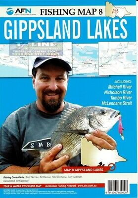 AFN Fishing Maps Gippsland Lakes (Vic) Map 8  Tear & Water Resistant Map