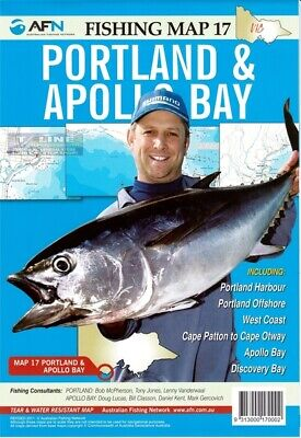 AFN Fishing Maps Portland & Apollo Bay (Vic) Map 17 Tear & Water Resistant Map
