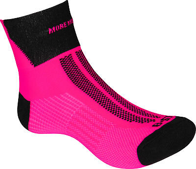 MORE MILE LIGHTWEIGHT RUNNING SOCKS Lumino Race Track Womens BREATHABLE Pink