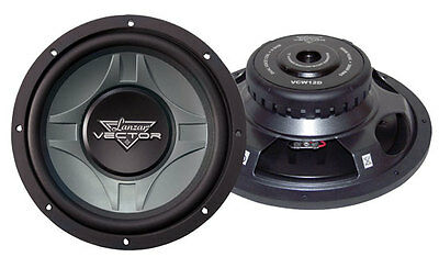 """Lanzar Vector 12"""" Inch 600w Slim Shallow Mount Underseat Compact Subwoofer Sub"""