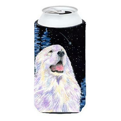 Starry Night Great Pyrenees Tall Boy bottle sleeve Hugger 22 To 24 oz.