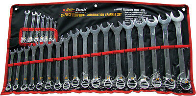 25pc Elliptical Combination Wrench Spanner Set Large Sizes Metric Up To 32mm New