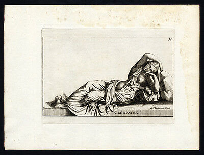 Antique Print-CLEOPATRE-Vancleve-Thomassin-1695