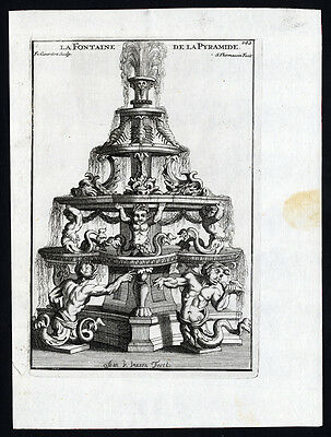 Antique Print-STATUE-FOUNTAIN-SCORPION-MERMEN-Girardon-Thomassin-1695