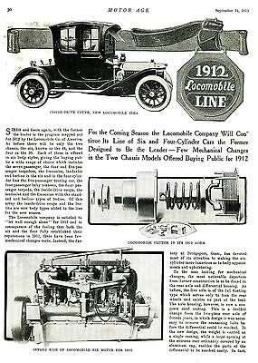 1911 Original Article & Many Rare Photos: The 1912 LOCOMOBILE Line of 4's & 6's