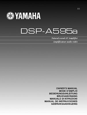 Yamaha DSP-A595A Amplifier Owners Manual