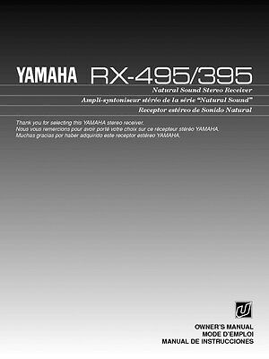 yamaha rx v2700 receiver owners manual 18 99 picclick rh picclick com yamaha rx-v2700 user manual Yamaha RX- V3800