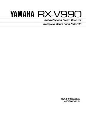 Yamaha RX-V990 Receiver Owners Manual
