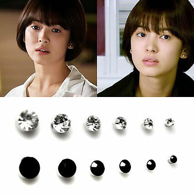 1Pair Non Piercing Clip On Round Magnetic Stud Earrings 3mm 4mm 5mmm Cool Gift